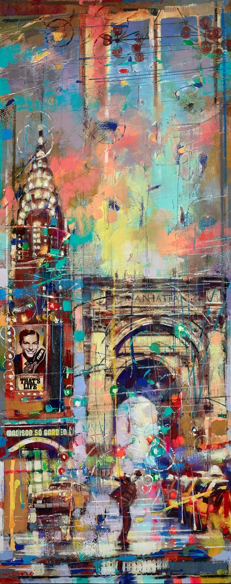 Brooklyn Diner at Night II by nemo -  sized 24x60 inches. Available from Whitewall Galleries